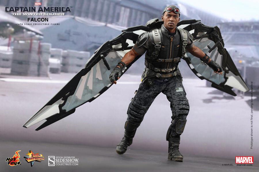Hot Juguetes Capitán América Figura De Halcón. los Vengadores  Tacho de sellado de fábrica.
