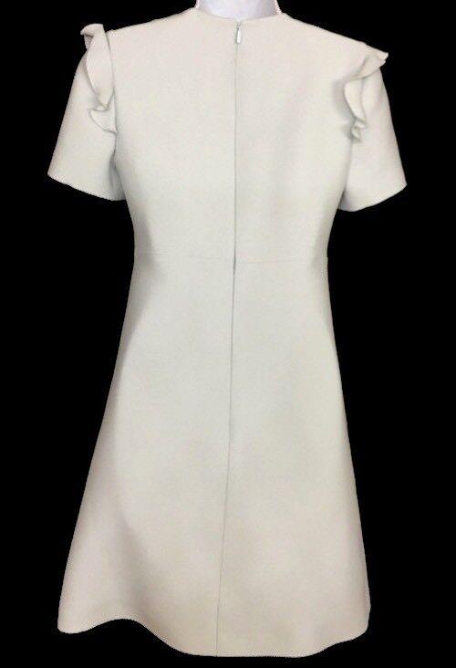 Fendi Dress Baby bluee Wool Wool Wool Blend Ruffle On Sleeve Size 36 Us 2 New   2000 68042b