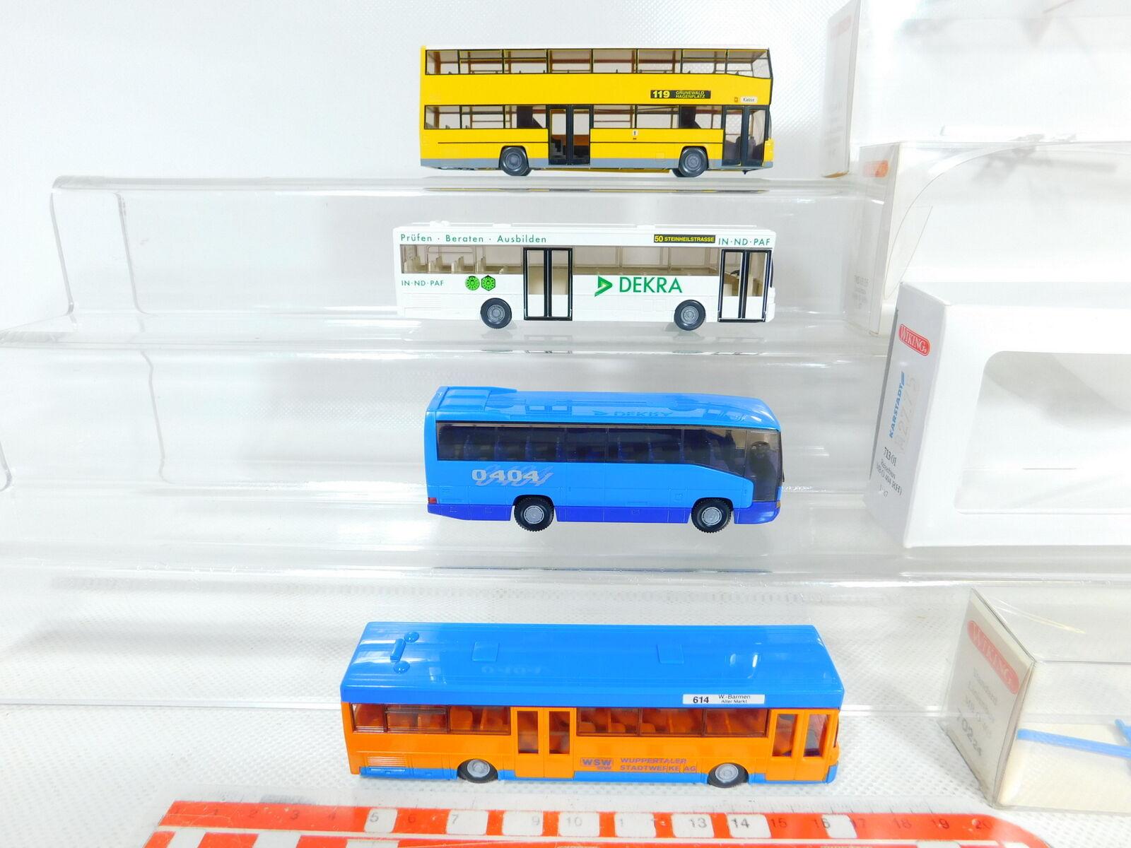 BX369-0,5 x Wiking 1 87     H0 Bus 731 Man Berlín + 702 Mercedes,Muy Buen + 9a5a35