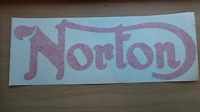 3189 - Original New Old Stock Norton Decal Red Approx 15'' X 6'' Grote Rassen
