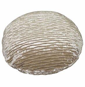 mp05a Pale Brown Gold Folds Pattern Shimmer Velvet Cushion Cover//Pillow Case