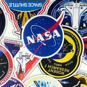 45-PCS-NASA-Mission-Badge-Vinyl-Stickers-Space-Shuttle-Apollo-SET-Lot