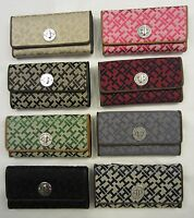 Tommy Hilfiger Women's Wallet (clutch Purse Checkbook) Choice Of Colors