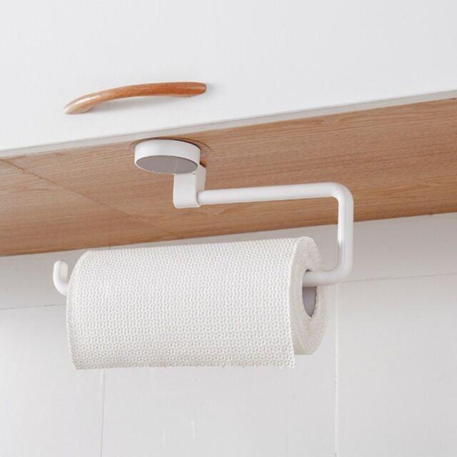 Paper Towel Holder Kitchen Bathroom Roll Rack Under Cabinet Storage