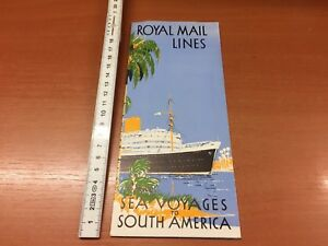 Royal-Mail-Lines-Sea-Voyages-to-South-America-Broschuere-von-1955-MV-Andes