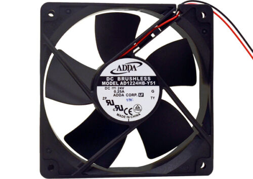 **NEW** ADDA 120MM x 32MM Case Fan DC 24V 112 CFM High Air Flow AD1224HB-Y51