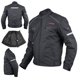 Motorcycle-Motorbike-Textile-Sport-Jacket-Armour-CE-Waterproof-Black-M