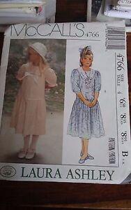 Oop-Mccalls-laura-ashley-4766-girls-drop-waist-dress-size-4-NEW