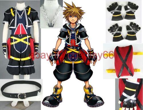 Kingdom Hearts II Sora I 9 Piece Cosplay Costume Custom Any Size