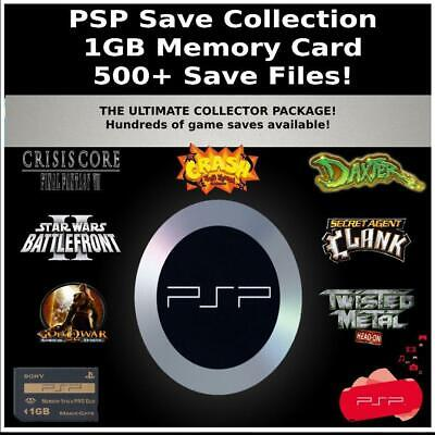 Unlocked Psp Save Collection 500 Saves 100 Complete