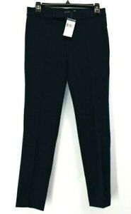 Ralph-Lauren-Women-039-s-Size-2-Dress-Slacks-Navy-Blue-Career-Pants-Cotton-Viscose