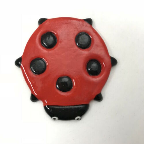 Craft Supplies Art CERAMIC LADYBIRD // LADYBUG 60x60mm ~ Mosaic Inserts