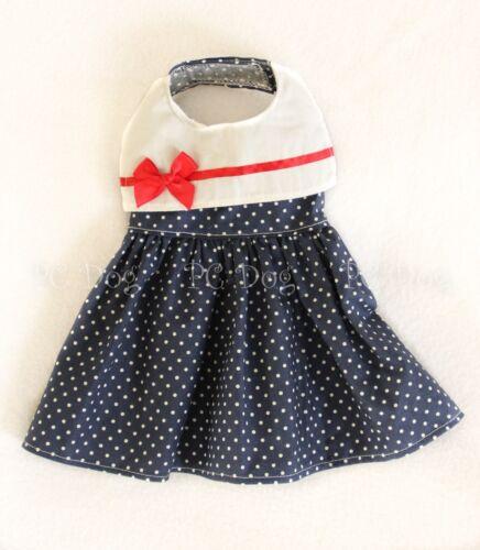 XXXS New Sailor Girl Dog dress clothes pet apparel Clothing Small Teacup PC Dog®