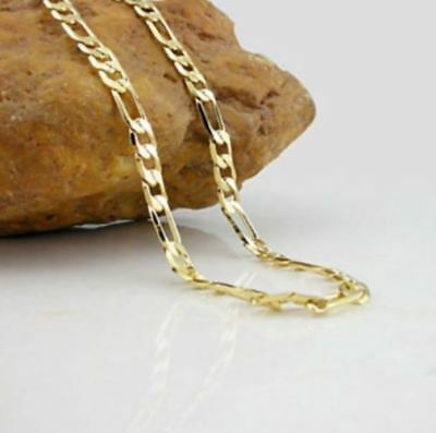 Cadena Para Hombre De Oro 18k Chapado Collar Fígaro Moda Casual Joyería De Lujo Ebay