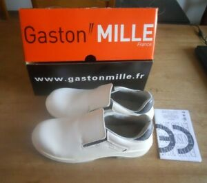 CHAUSSURES DE SECURITE GASTON MILLE BLANCHES T. 41