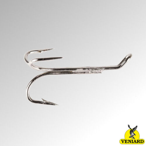 Veniard Esmond Drury Hooks Salmon Treble Silver Nickel Pack of 10