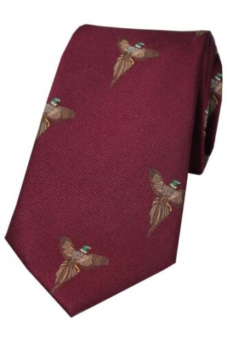 Soprano Flying Pheasant Wine Silk Tie Men/'s Game Country Hunting Shooting T028