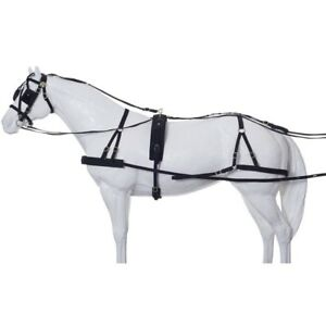 Tough-1-Herculean-Nylon-Driving-Harness-Breeching-Style-Horse-Size-Black