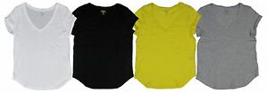 Ralph-Lauren-Polo-Womens-V-Neck-Loose-Fitting-Pony-Shirt-Black-White-Yellow-Gray