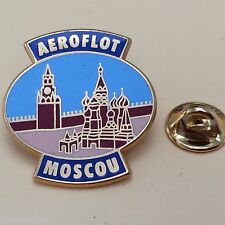 Pin's Folies ** Tourisme Village ville Aviation aerien Aeroflot Moscou plane