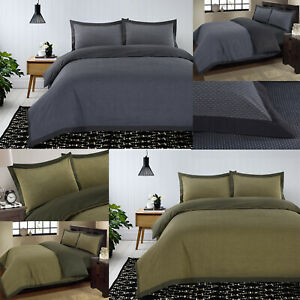 New-Luxury-100-Cotton-Bedding-Duvet-Quilt-Cover-Set-Soft-Cosy-Woven-Dotted-Grey