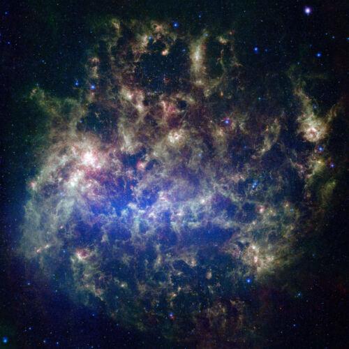 Large Magellanic Cloud Spitzer Hubble JPL NASA space telescope photo PIA07137