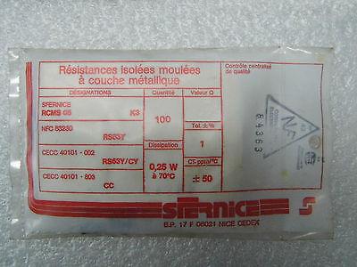 100 résistances RCMS05 RS63Y 1/% 1//4W 50ppm 6k34 6.34 k ohms Sfernice resistor