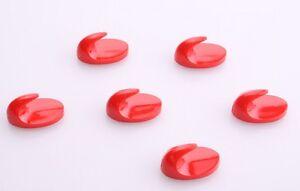 crochet-6-pieces-rouge-mini-format-crochet-collant-Patere-pour-essuie-mains