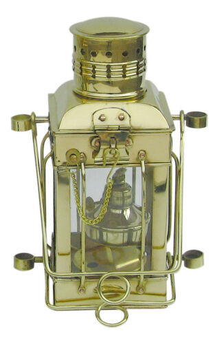 perfekt für die maritime Dekoration Cargolampe Messing  Petroleumbrenner