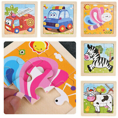 1PC Baby Toys 3D Wooden Puzzle Cartoon Learning Educational Kids Toy Elephant