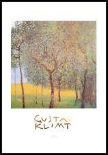 Gustav Klimt Obstgarten Poster Kunstdruck Bild mit Alu Rahmen in schwarz 70x50cm