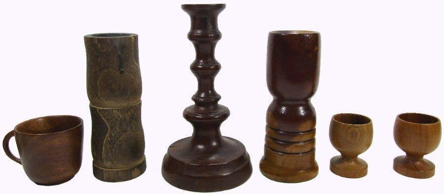 Wood Candle Holders Mug Egg Cups Mahoghany Mulga Teak Bulk Lot
