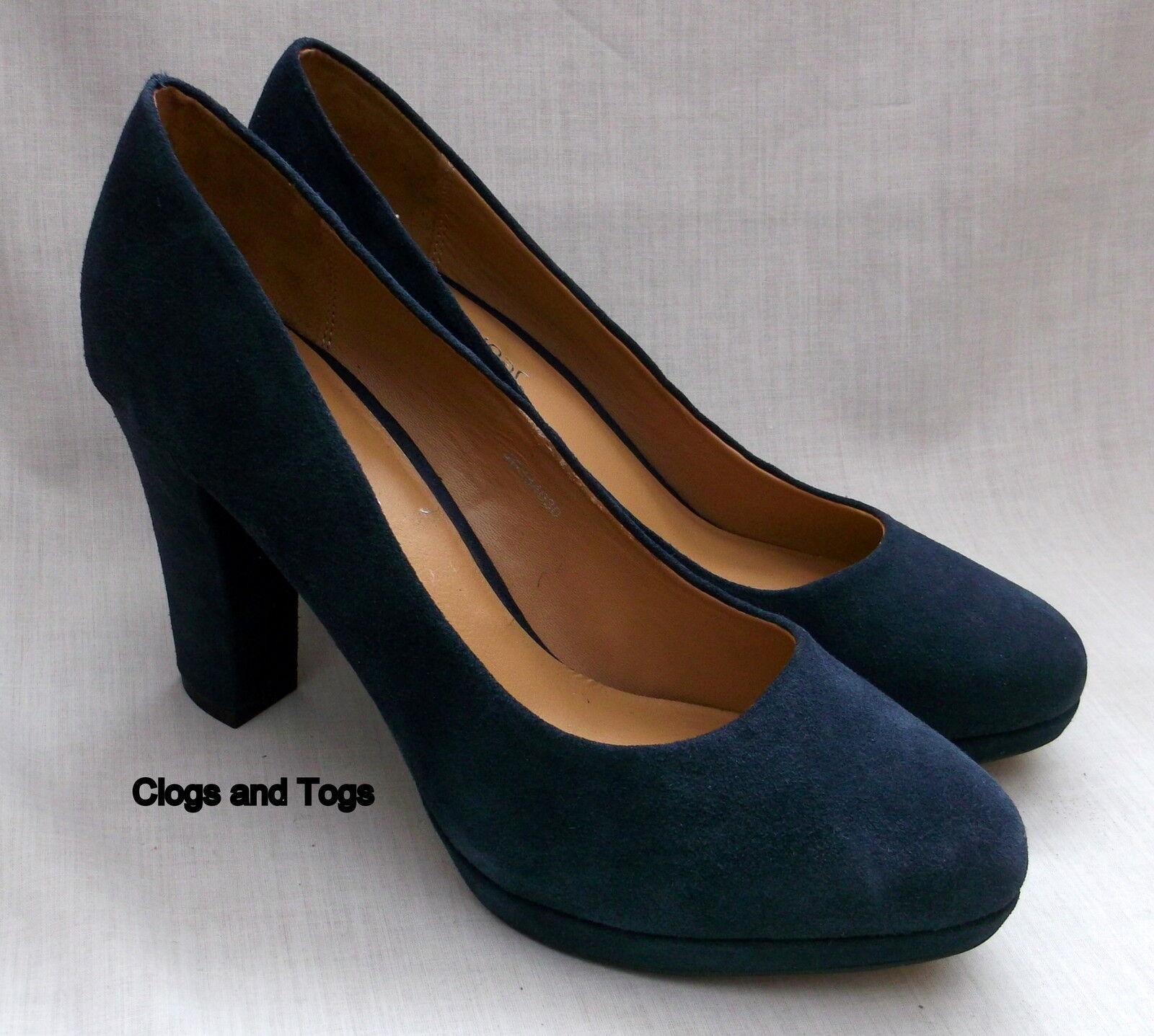 NEW CLARKS SOFTWEAR SOFTWEAR SOFTWEAR ANIKA ABBY WOMENS NAVY blueE SUEDE PLATFORM SHOES 2b955b
