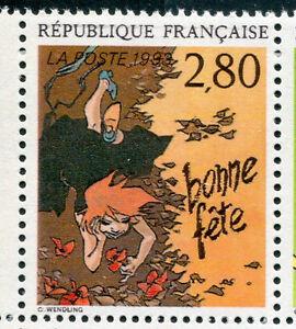 FRANCE - 1993, timbre 2836, BONNE FETE C. WENDING, BD, PLAISIR ECRIRE, neuf**