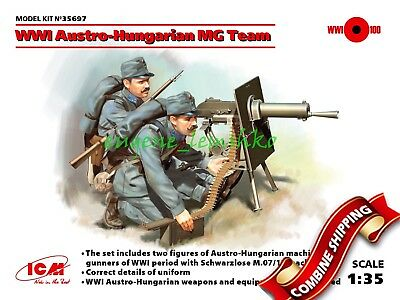 WWI Russian Army Figures Model Building Kit # 35698 2 Figures ICM 1//35 Scale WWI Russian Maxim MG Team