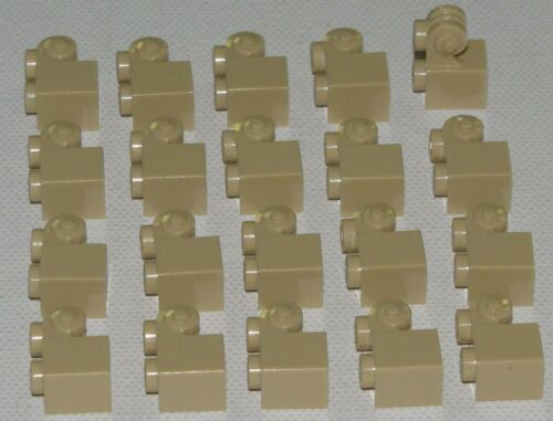 LEGO LOT OF 20 NEW TAN 1 X 1 BRICKS WITH SCROLL SHAPE PIECES PARTS