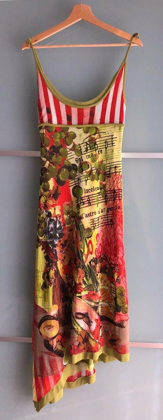 Save the Queen Abito Dress Stampa Musicale e Floreale Multicolor Tg. M