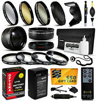 Battery Charger Accessories 58mm Filters Fr Canon Eos Rebel T2i T3i T4i T5i 550d
