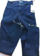 MOTHER The Looker Prep Fray blue  Jeans pants NWT 25