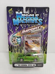 Muscle-Machines-Import-Tuner-039-00-Honda-Civic-HB-Green-1-64