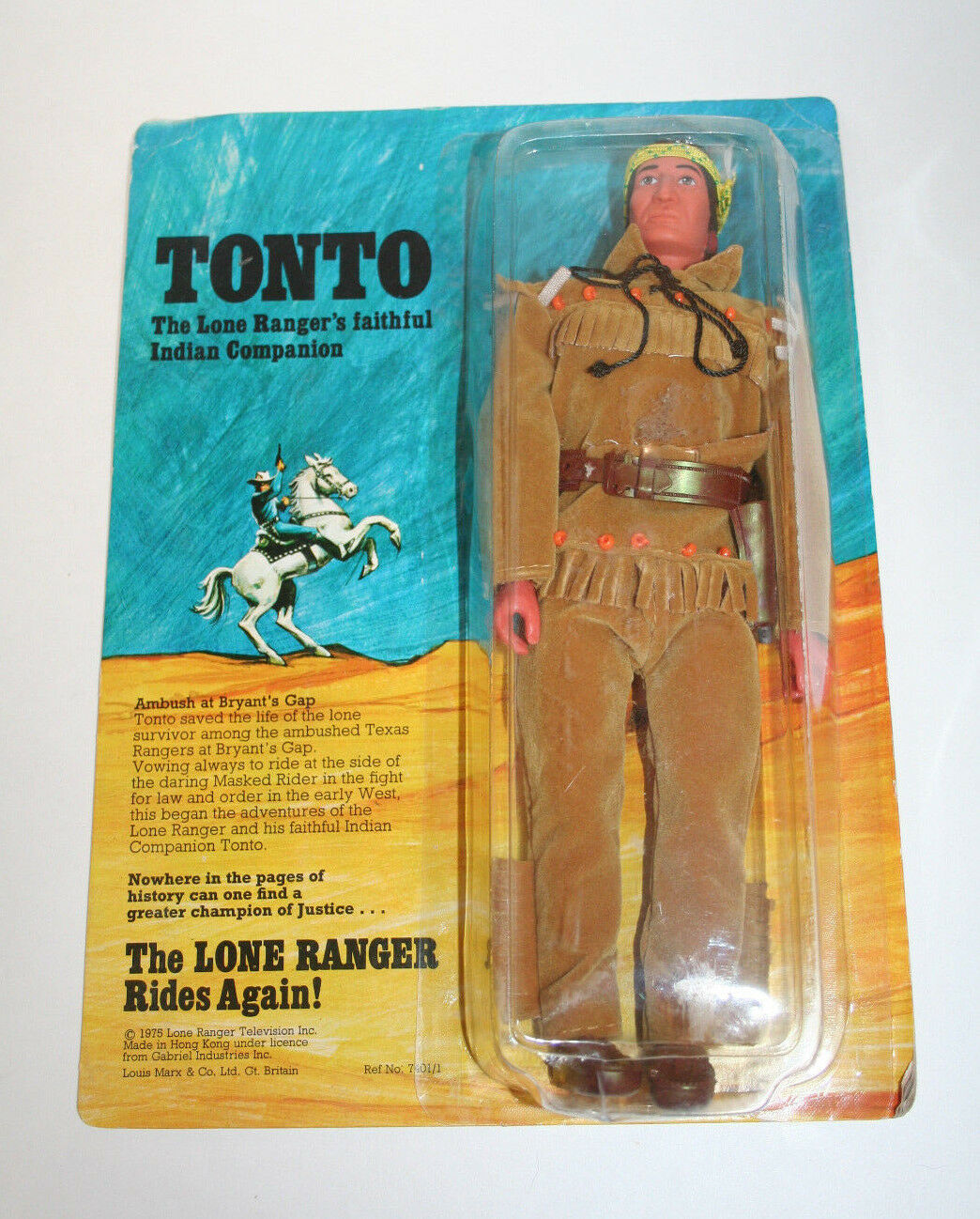 Gabriel Marx Lone Ranger TONTO MOC mint on card carded sealed unpunched Hubley