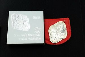 Towle-Sterling-Silver-Christmas-Ornament-Medallion-1984-In-Box