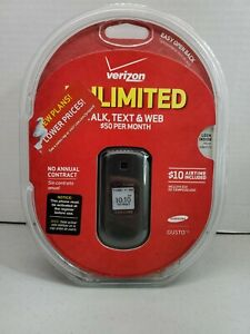 Samsung-Gusto-2-SCHU365HPP-Charcoal-Gray-Verizon-Cellular-Phone-Unlimited-NEW