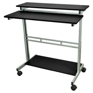 Mobile-40-inch-Stand-Up-Computer-Desk-in-Black