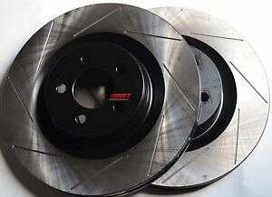 Fits-Challenger-Charger-SRT-8-Slotted-Brake-Rotors-Stop-Tech-Rear-Pair