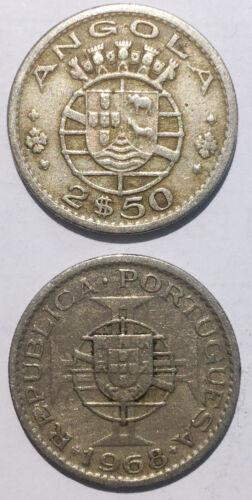 PORTUGAL  COLONIES ANGOLA  2$50  2.5 Escudos 1953-1974 20mm co-ni coin