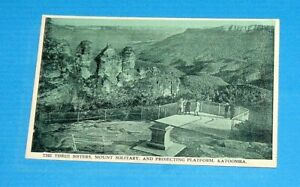 The-Three-Sisters-Mount-Solitary-and-Projecting-Platform-Katoomba-Post-Card
