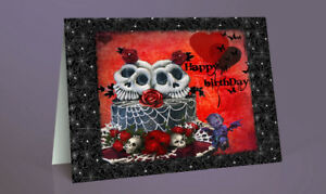 Groovy Handmade Goth Birthday Cake Skull Design Birthday Card A5 Birthday Cards Printable Benkemecafe Filternl