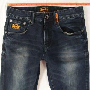 Hommes-Superdry-Super-Skinny-Stretch-Jeans-Bleu-W30-L32