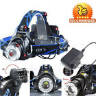 2000LM T6 LED Tactical Headlamp Rechargeable Cree XM-L Headlight+Battery+Charger